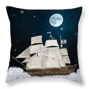 The Pirate Ghost Ship Throw Pillow