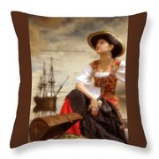 The Pirate Queen Throw Pillow