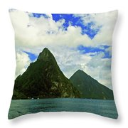 The Pitons Throw Pillow