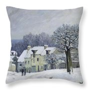 The Place Du Chenil At Marly Le Roi Throw Pillow