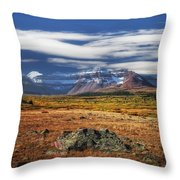 The Plane Over Kings Throw Pillow