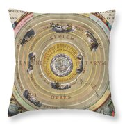 The Planisphere Of Ptolemy, Harmonia Throw Pillow by Science Source
