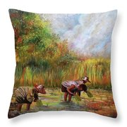 The Planting Throw Pillow