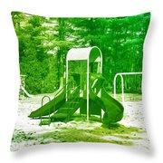 The Playground I - Ocean County Park Throw Pillow