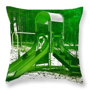 The Playground II - Ocean County Park Throw Pillow