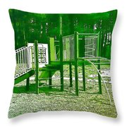 The Playground IIi - Ocean County Park Throw Pillow
