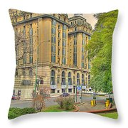 The Plaza Throw Pillow