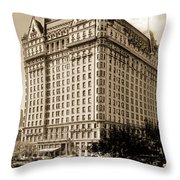 The Plaza Hotel Throw Pillow