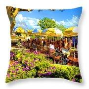 The Plaza Magic Kingdom Walt Disney World Throw Pillow