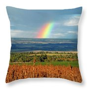 The Pleasant View Rainbow Throw Pillow