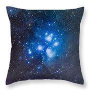 The Pleiades, Also Known As The Seven Throw Pillow