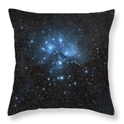 The Pleiades, Also Known As The Seven Throw Pillow by John Davis