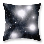 The Pleiades Star Cluster, Also Known Throw Pillow by Stocktrek Images