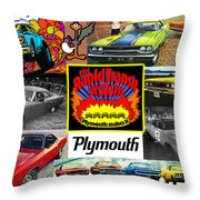 The Plymouth Rapid Transit System Collage Throw Pillow