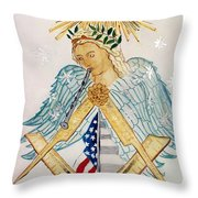 The Poet Laureate With Flute Throw Pillow