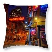 The Point Marshall Street Boston Ma Throw Pillow