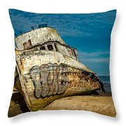 The Point Reyes Beached Throw Pillow