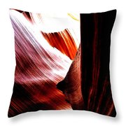 The Polished Rocks Of Lower Antelope Canyon Throw Pillow