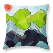 The Poly Landscape Throw Pillow