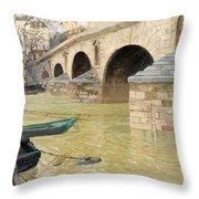 The Pont Marie. Paris Throw Pillow