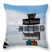 The Pony Soldier Motel On Route 66 Throw Pillow