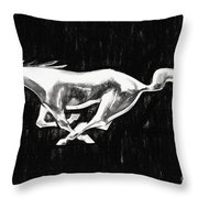 The Pony Throw Pillow