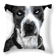 The Pooch With Blue Eyes Throw Pillow