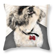 The Pooch With The Crooked Tooth Throw Pillow