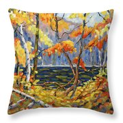 The Pool After Thompson By Prankearts Throw Pillow