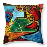 The Pool Sharks 1 Throw Pillow