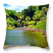 The Pools Of Ohe'o Throw Pillow