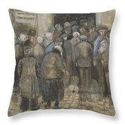 The Poor And Money The Hague, September - October 1882 Vincent Van Gogh 1853  1890 Throw Pillow