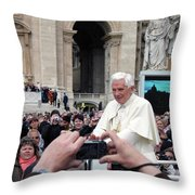 The Pope Throw Pillow
