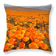 The Poppy Fields - Antelope Valley Throw Pillow