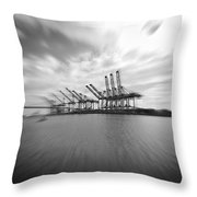 The Port Of Los Angeles Throw Pillow