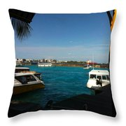 The Port Of Maldives  Throw Pillow