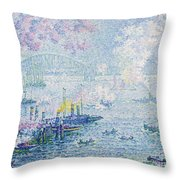 The Port Of Rotterdam Throw Pillow