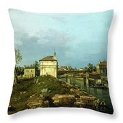 The Porta Portello, Padua Throw Pillow