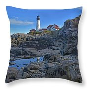 The Portland Lighthouse Throw Pillow