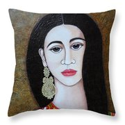 The Portuguese Earring 2 Throw Pillow