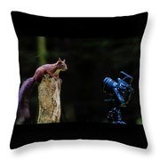 The Poser Throw Pillow