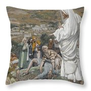 The Possessed Boy At The Foot Of Mount Tabor Throw Pillow