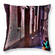 The Post Alley Gum Wall Throw Pillow