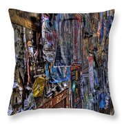 The Poster Wall Throw Pillow