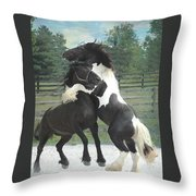 The Posturing Game Throw Pillow