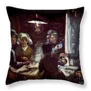 The Potato Eaters, By Vincent Van Gogh, 1885, Kroller-muller Mus Throw Pillow