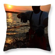 The Potomac In Color Throw Pillow