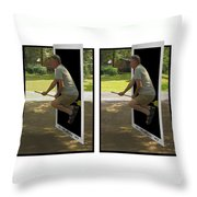 The Potter Effect - Gently Cross Your Eyes And Focus On The Middle Image Throw Pillow