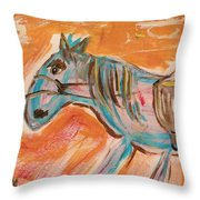The Power Horse Throw Pillow