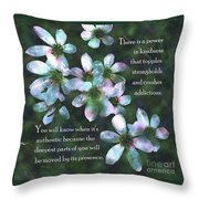 The Power In Kindness Throw Pillow